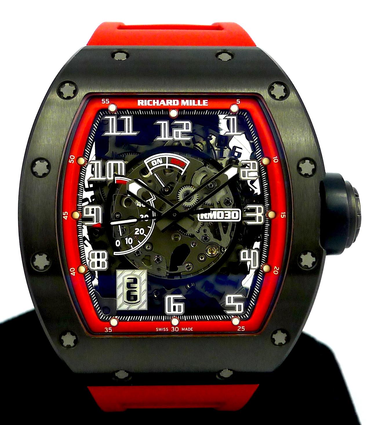 "Richard Mille RM030 ""Black Night"" Titanium Limited Edition | GR  Luxury-Singapore Rolex Reliable Watch Dealer"
