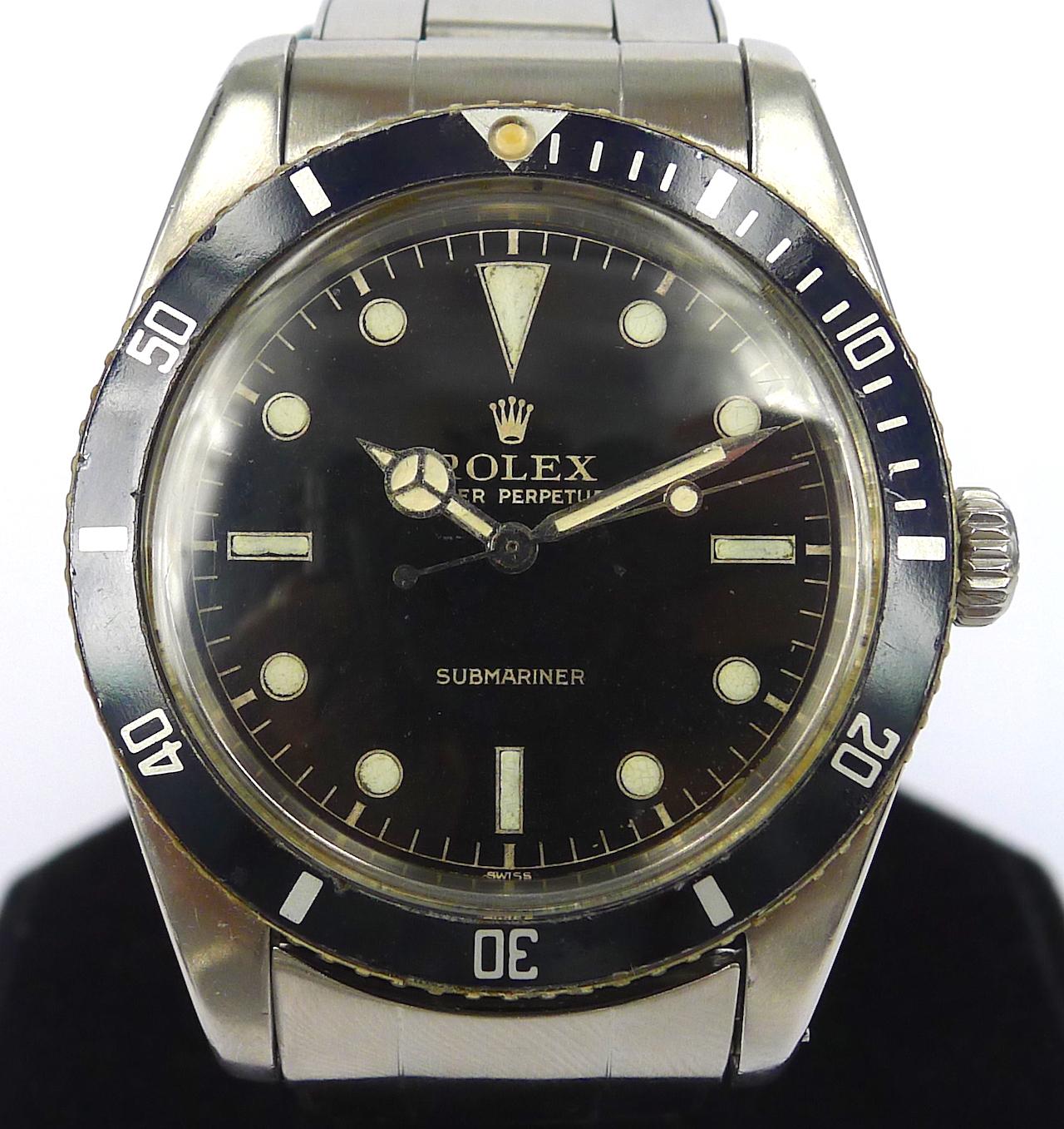 Rolex Vintage Submariner No Date Ref 5508